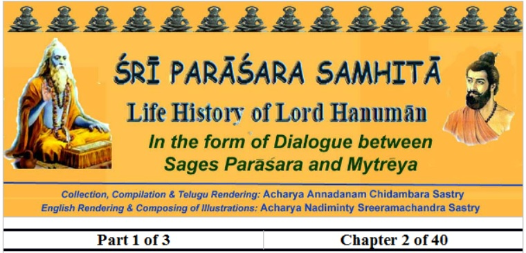 Sri Parasara Samhita - Part 1 - Chapter 2