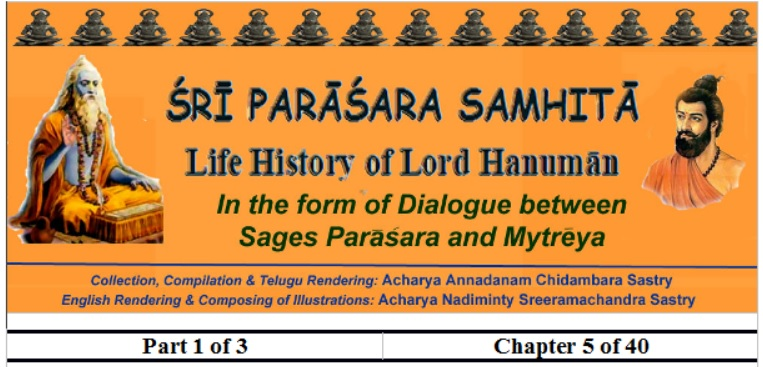 Sri Parasara Samhita - Part 1 - Chapter 5