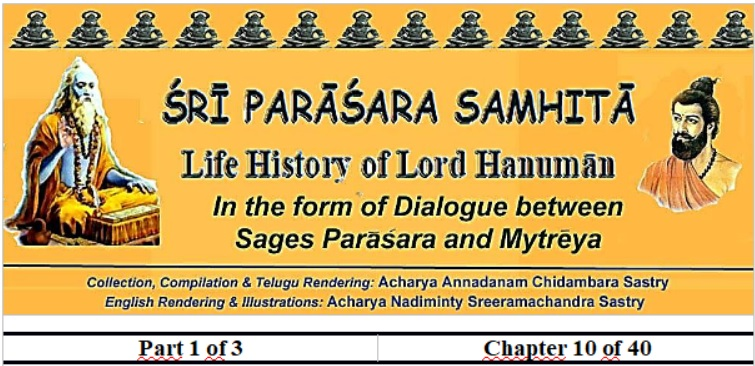 Sri Parasara Samhita - Part 1 - Chapter 10