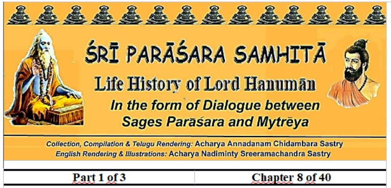 Sri Parasara Samhita - Part 1 - Chapter 8