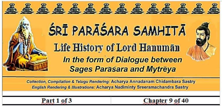Sri Parasara Samhita - Part 1 - Chapter 9