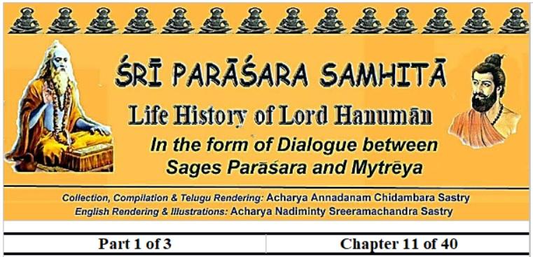 Sri Parasara Samhita - Part 1 - Chapter 11